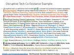 disruptive tech co existance example