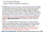 free energy challenge quest to meet academic protocol 1