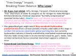 free energy impact breaking power balance who loses