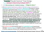 inventor pseudo science free energy 1 2 ambient electricity back emf 4