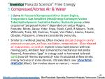 inventor pseudo science free energy 5 compressed