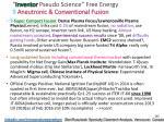 inventor pseudo science free energy 9 aneutronic
