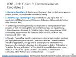 lenr cold fusion 9 commercialization candidates 6
