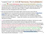 lowest cost 15 h r ix thermionic thermodielectric