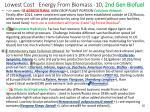 lowest cost energy from biomass 10 2nd gen biofuel