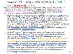 lowest cost energy from biomass 33 peat 2