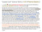 lowest cost science tech11 h r v thermo electric 2