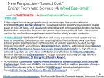 new perspective lowest cost energy from vast biomass 4 wood gas small