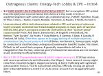 outrageous claims energy tech lobby zpe intro4