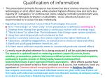 qualification of information