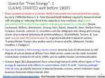 quest for free energy 1 claims started well before 1800s