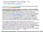 science accepted free energy 12 earth mag field large pwr