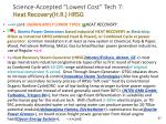 science accepted lowest cost tech 7 heat recovery h r hrsg