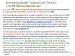 science accepted lowest cost tech13 h r vi thermo galvanic etc