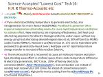 science accepted lowest cost tech16 h r x thermo acoustic etc