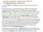 science accepted lowest cost tech17 h r xi heat pump thermo pv