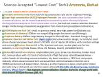 science accepted lowest cost tech3 ammonia biofuel
