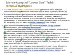 science accepted lowest cost tech6 perpetual hydrogen ii