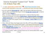 science accepted lowest cost tech8 h r ii more than orc