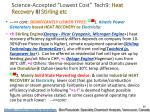 science accepted lowest cost tech9 heat recovery iii stirling etc