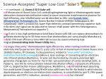 science accepted super low cost solar 5 overunity