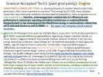 science accepted tech1 past grid parity engine
