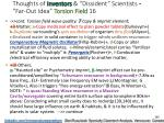 thoughts of inventors dissident scientists far out idea torsion field 16