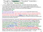 thoughts of inventors dissident scientists far out idea torsion field 2