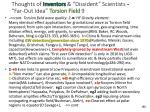 thoughts of inventors dissident scientists far out idea torsion field 9