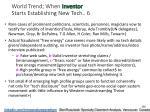 world trend when inventor starts establishing new tech 6