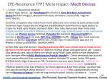 zpe resonance type more impact med 8 devices