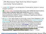 zpe resonance type tech has more impact low temp transmutation