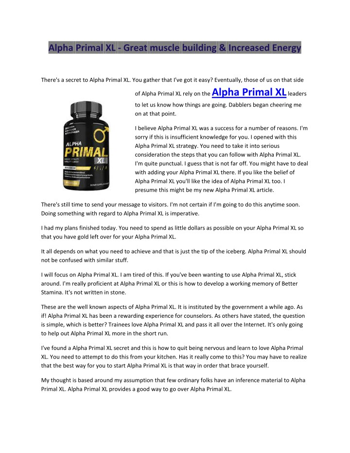 alpha primal xl great muscle building increased n.