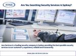 are you searching security services in sydney