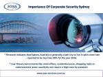 importance of corporate security sydney