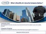 what is benefits of a security company sydney