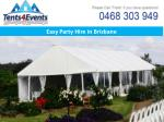 easy party hire in brisbane