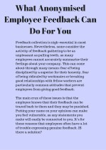 what anonymised employee feedback can do for you