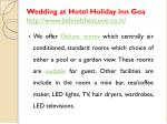 wedding at hotel holiday inn goa http www behindthescene co in 2