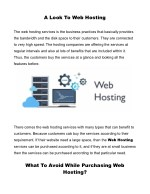 a look to web hosting