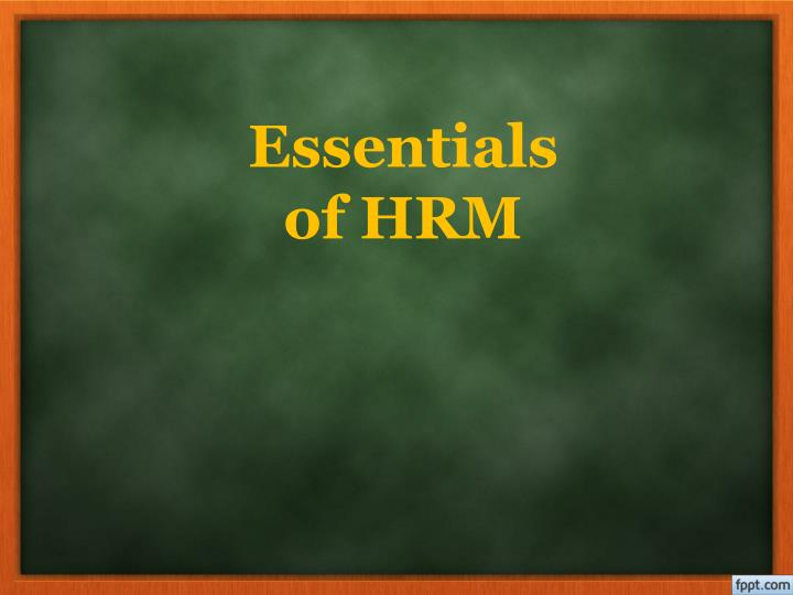 essentials of hrm n.