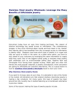 stainless steel jewelry wholesale leverage
