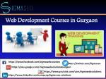 web development courses in gurgaon