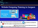 website designing training in gurgaon