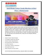 gold medal cotton candy machine at best price