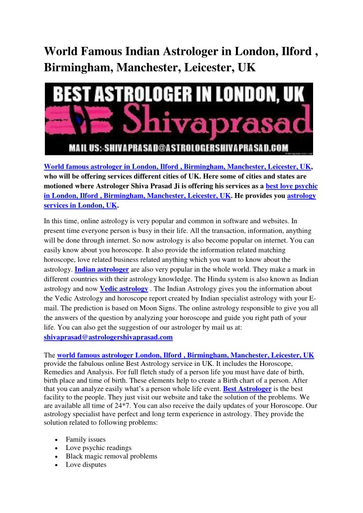 world famous indian astrologer in london ilford n.