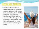 how we travel