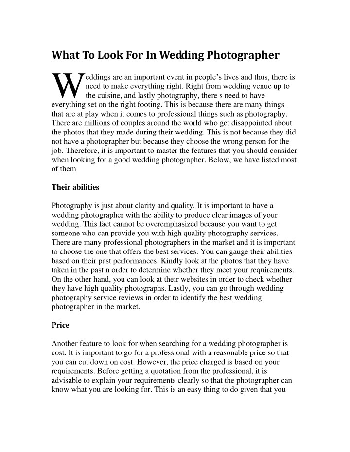 what to look for in wedding photographer eddings n.