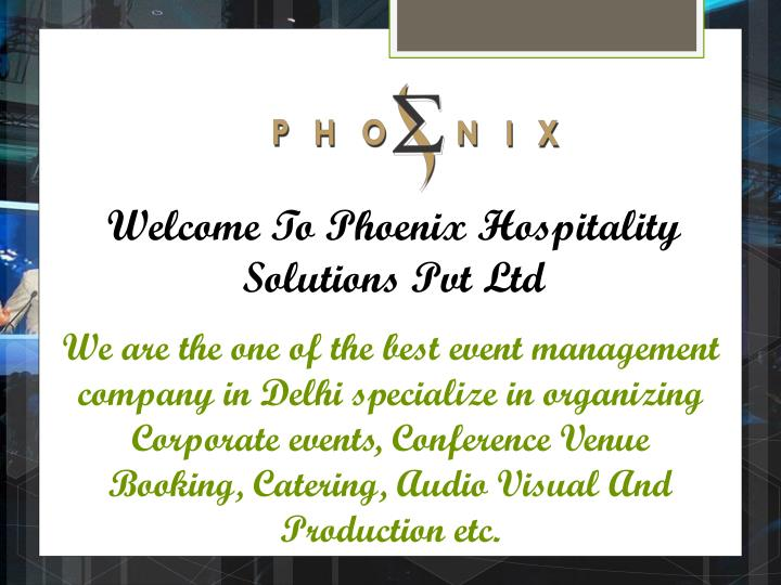 welcome to phoenix hospitality solutions pvt ltd n.