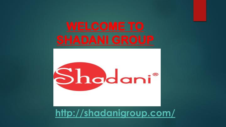 welcome to shadani group n.